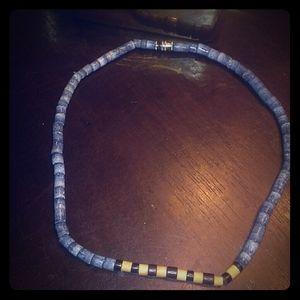 Vin blue coral necklace